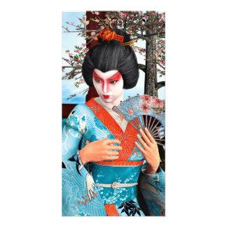 Geisha Customised Photo Card