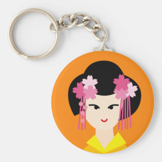 geisha face 4 key ring