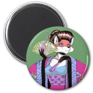 Geisha Fox Magnet
