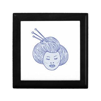 Geisha Girl Head Drawing Gift Box