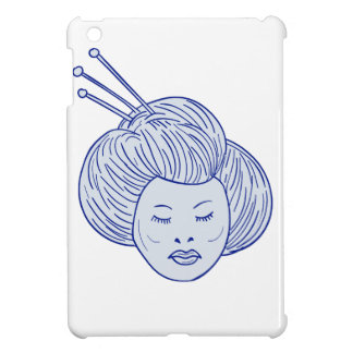 Geisha Girl Head Drawing iPad Mini Case