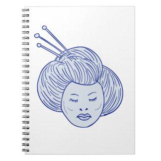 Geisha Girl Head Drawing Notebooks