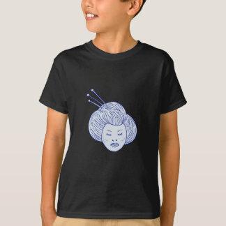Geisha Girl Head Drawing T-Shirt