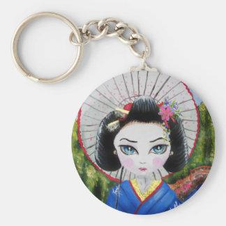 geisha girl key ring