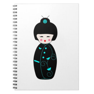 Geisha Girl Spiral Notebooks