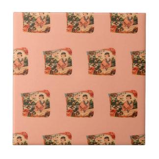 Geisha Girl Tile