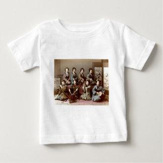 Geisha Girls Playing Instruments - Kusakabe Kimbei Baby T-Shirt