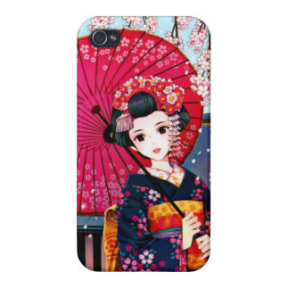 Geisha in Spring Time iPhone 4 Cover