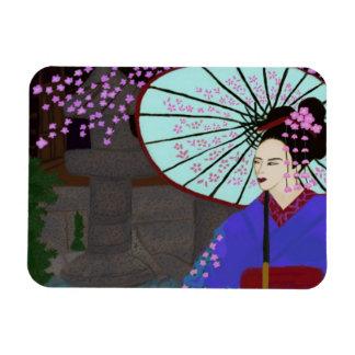 Geisha In The Garden Magnet