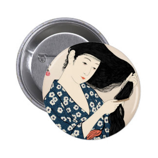 Geisha Japan 6 Cm Round Badge