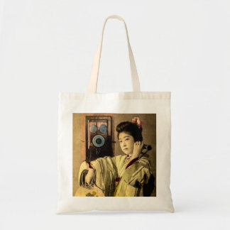 Geisha Making a Midnight Call to a Secret Lover Tote Bag
