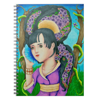 Geisha Of the Forest Spiral Notebook