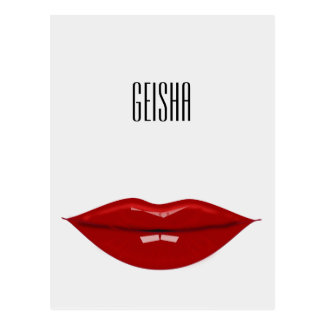 geisha - paper products postcard