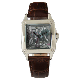 Geisha Party Time in Old Japan Vintage Japanese Watch