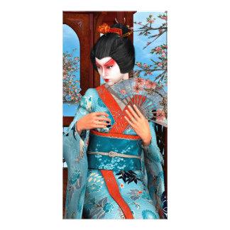 Geisha Personalized Photo Card