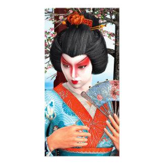 Geisha Customized Photo Card