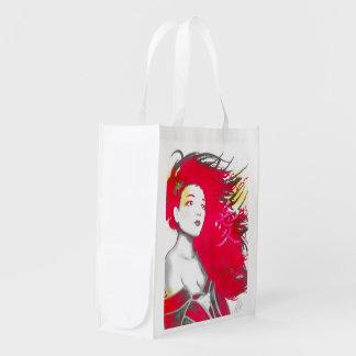 Geisha Pink reusable bag