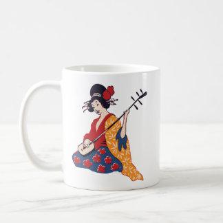 Geisha Playing a Shamisen Classic Mug
