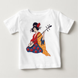 geisha playing instrument baby T-Shirt