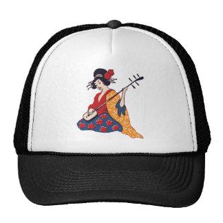 geisha playing instrument cap