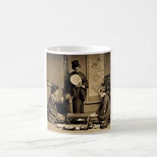 Geisha Playing Master At Game of Go  囲碁 Vintage Coffee Mug