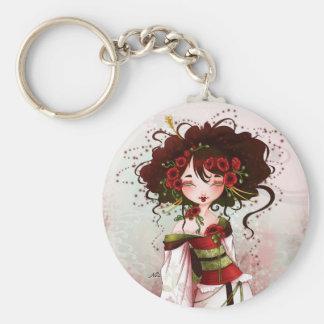 Geisha poppy key ring