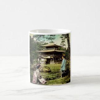 Geisha Posing at Kinkaku-ji Golden Temple Japan Coffee Mug