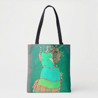 Geisha Psychedelic Tote Bag