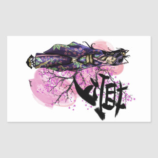 Geisha Rectangular Sticker