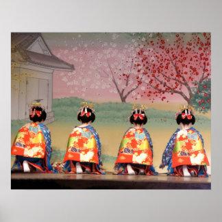 Geisha Row Print