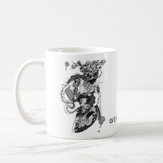 Geisha samurai coffee mug