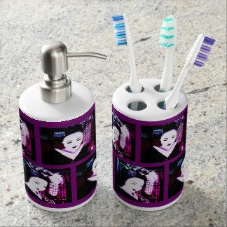 Geisha Soap Dispenser And Toothbrush Holder