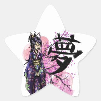 Geisha Star Sticker