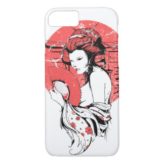 Geisha Sun Glossy Phone Case