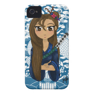 Geisha warrior print iPhone 4 case