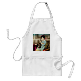 Geisha with a Violin Vintage Old Japan Musician Standard Apron