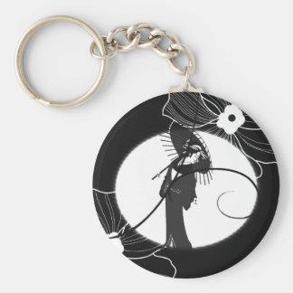 GeishaLight Basic Round Button Key Ring