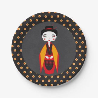 Geishas and sushi Birthday Party Paper Plate