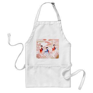 Geishas in garden standard apron
