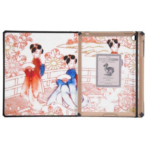 Geishas in garden iPad case