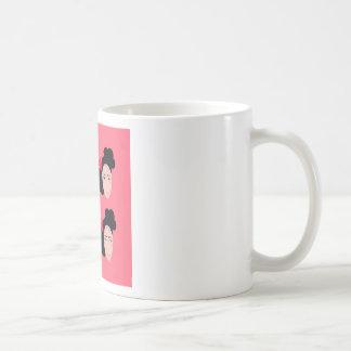 Geishas on pink design coffee mug