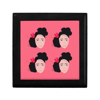 Geishas on pink design gift box