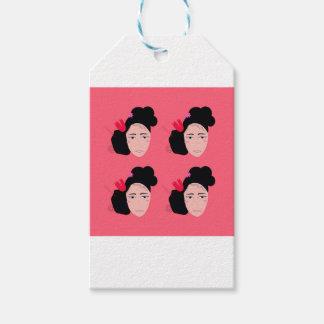 Geishas on pink design gift tags