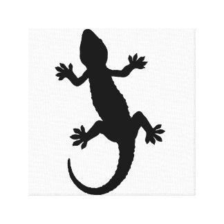 gekko silhouette canvas print