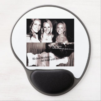 Gel Mouse pad (black and white)