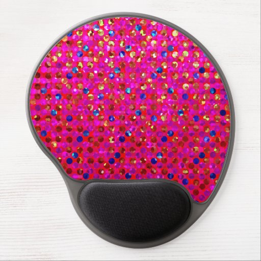 Gel Mousepad Polka Dots Sparkley Jewels