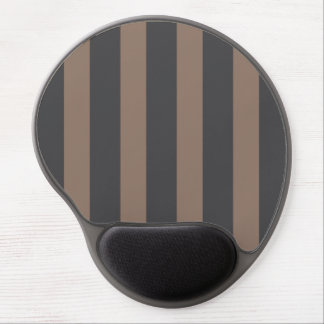 Gel Mousepad - Taupe & Gray Stripes