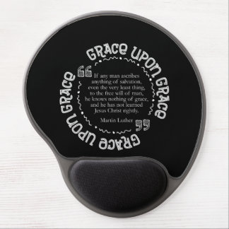 Gel Mousepad w/Luther Quote (Black)