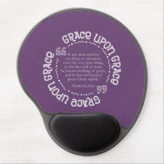 Gel Mousepad w/Luther Quote (Purple)