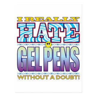 Gel Pens Hate Face Postcard